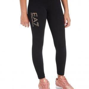 Emporio Armani Ea7 Girls' Studded Glitter Leggings Musta