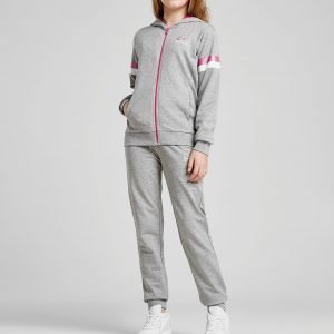Emporio Armani Ea7 Girls' Training Fleece Verryttelyasu Harmaa