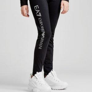 Emporio Armani Ea7 Girls' Training Leggings Musta