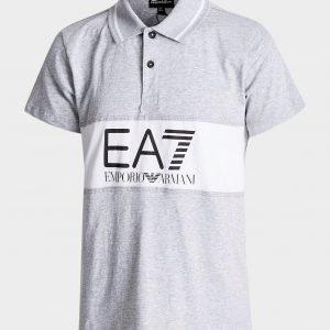 Emporio Armani Ea7 Panel Logo Polo Shirt Valkoinen