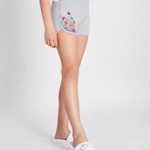 Emporio Armani Ea7 Tyttöjen Floral Fleece Shortsit Harmaa
