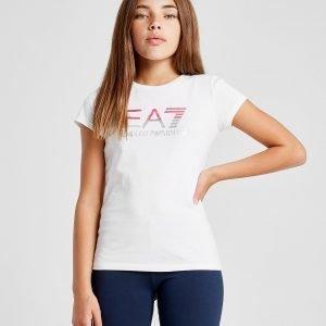 Emporio Armani Ea7 Tyttöjen Training Logo T-Paita Valkoinen