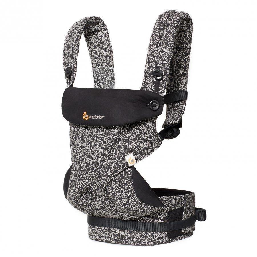 Ergobaby Four Position 360 Baby Carrier Keith Haring Black Special Edition Kantoreppu