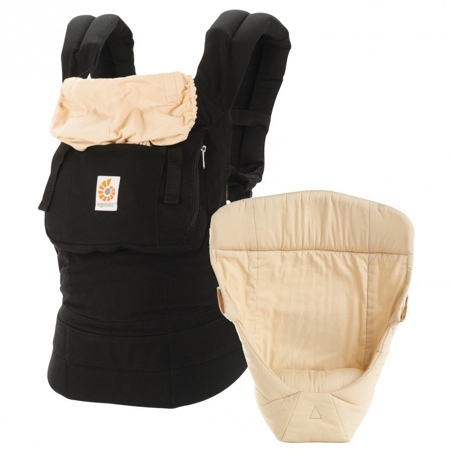 Ergobaby Original Three Position Bundle Of Joy Black/Camel Kantoreppu
