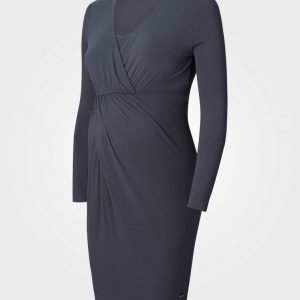 Esprit Maternity Dress Nursing Ls Dark Grey Imetysmekko