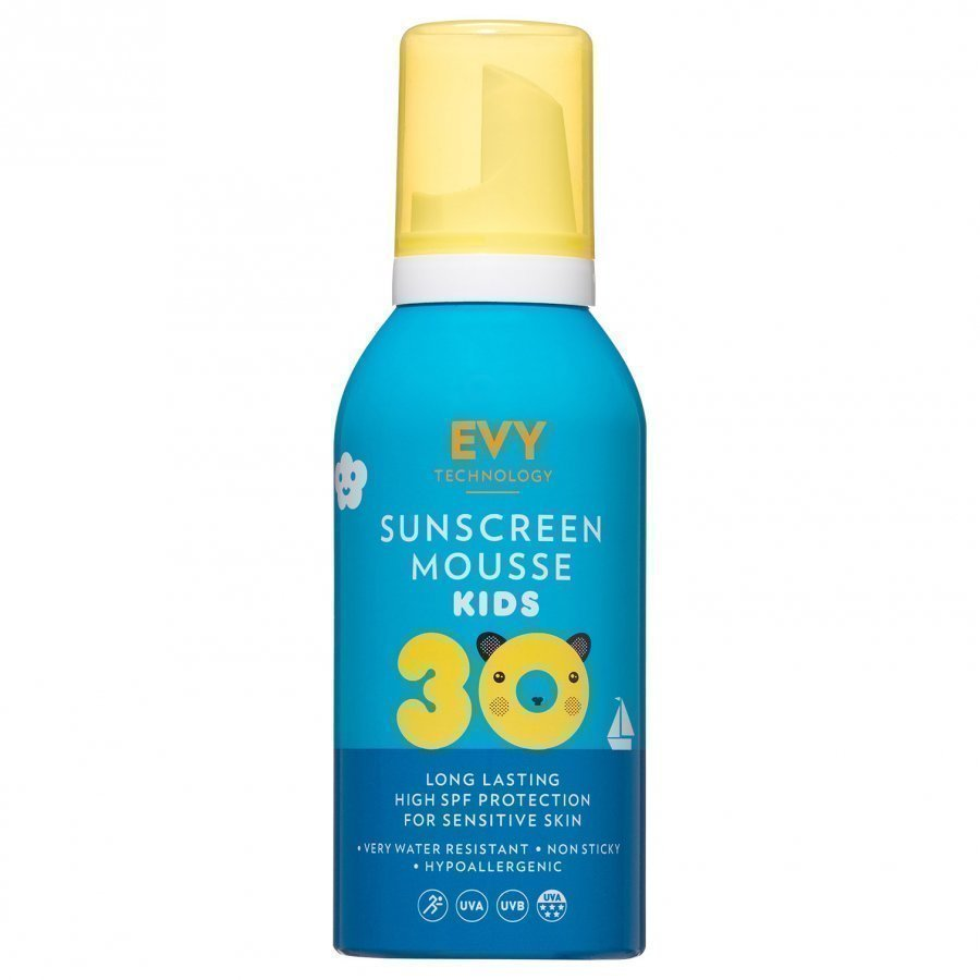 Evy Technology Mousse Spf 30 150 Ml For Kids Sininen Aurinkovoide