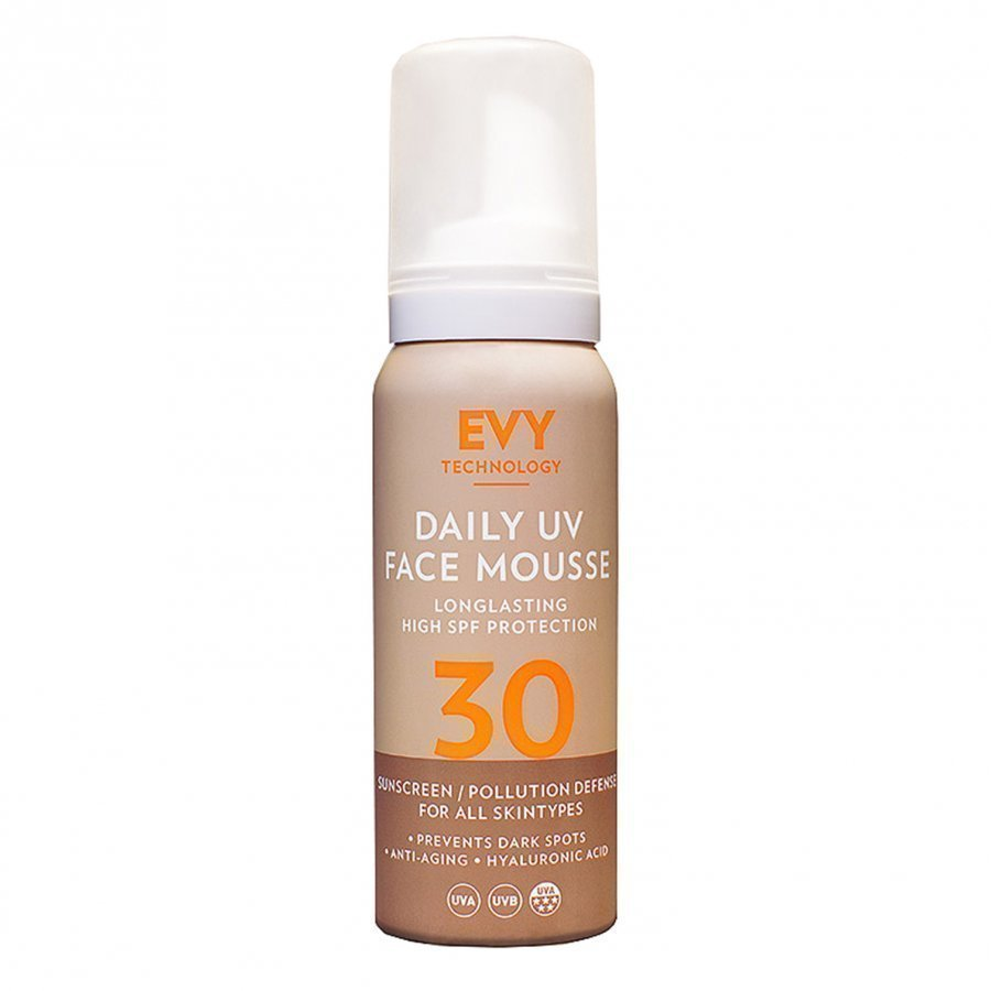 Evy Technology Spf 30 Anti-Age Uv Face Mousse 75 Ml Aurinkovoide