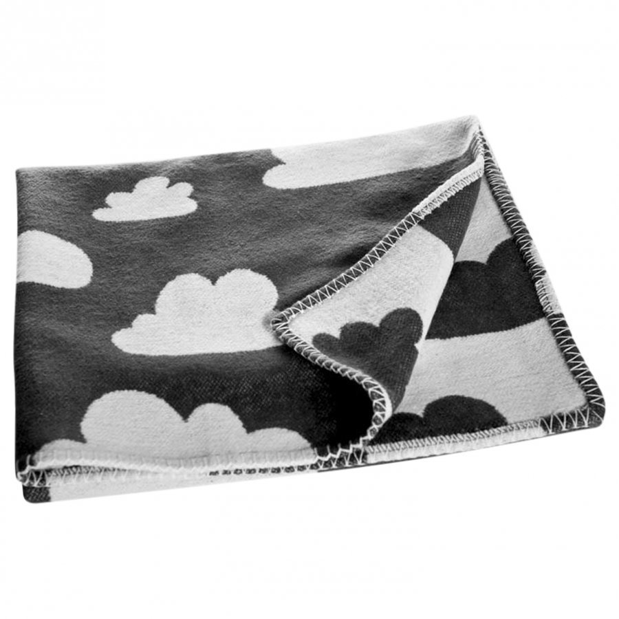 Färg & Form Clouds Blanket Black Huopa