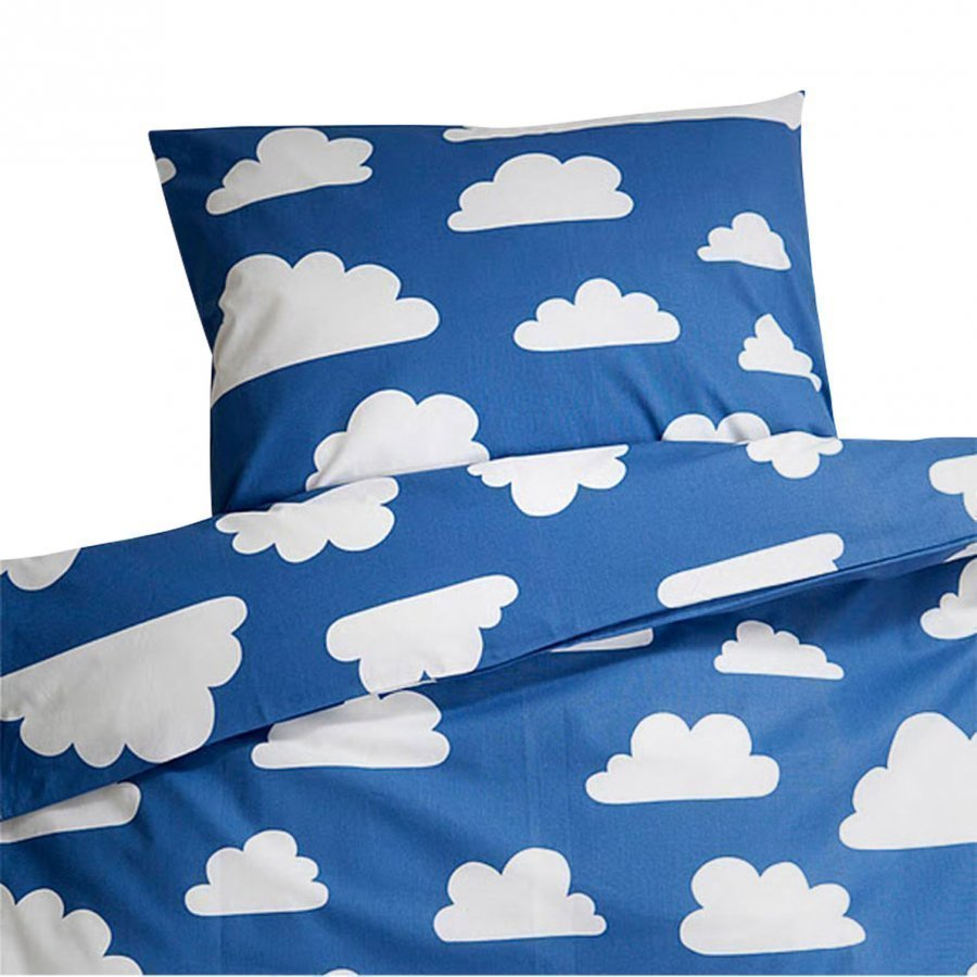 Färg & Form Clouds Blue Crib Duvet Set Pussilakanasetti