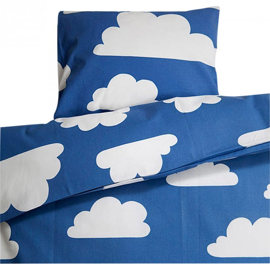 Färg & Form Clouds Blue Stroller/Cot Set Pussilakanasetti