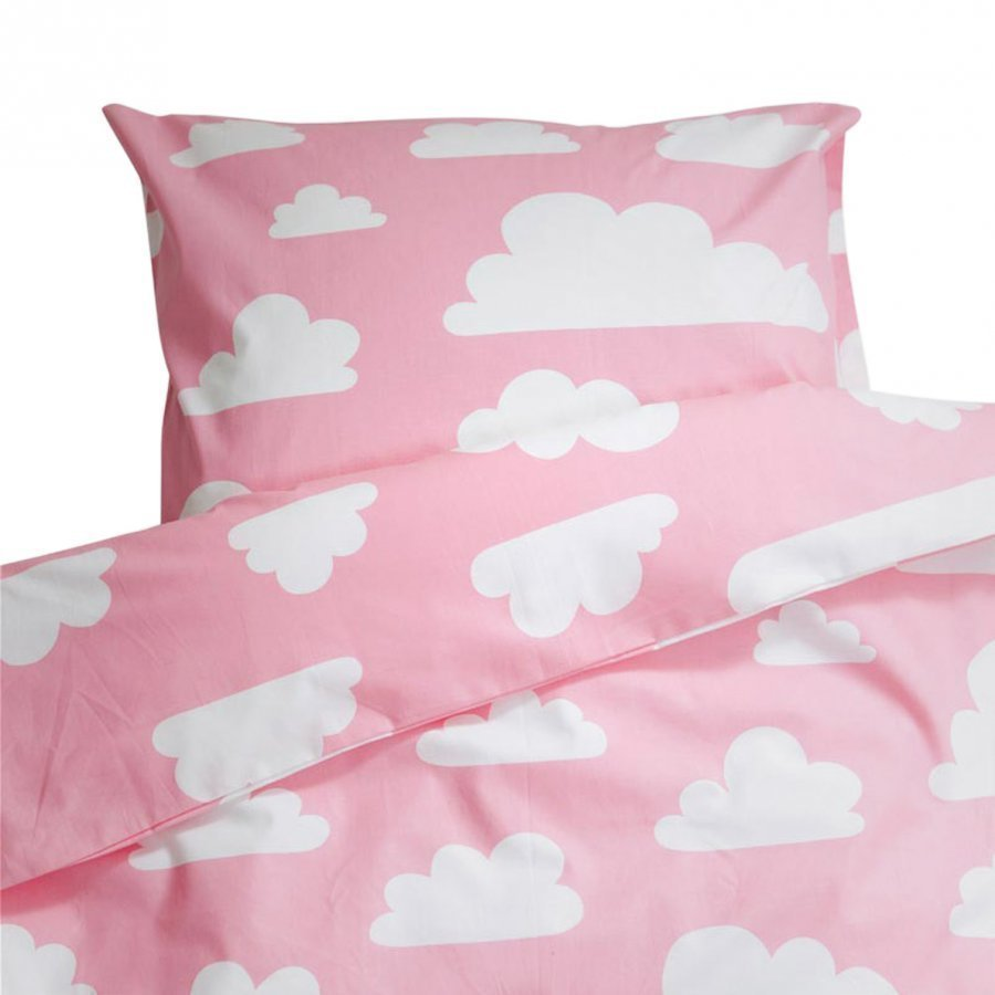 Färg & Form Clouds Pink Crib Duvet Set Pussilakanasetti