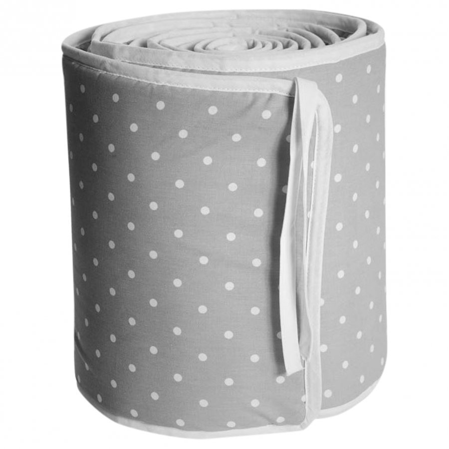 Färg & Form Grey Dots Crib Bumper Pinnasängyn Suoja