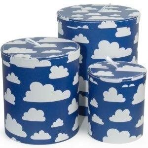 Färg & Form MOLN Isot pahvirasiat 3 kpl Sininen