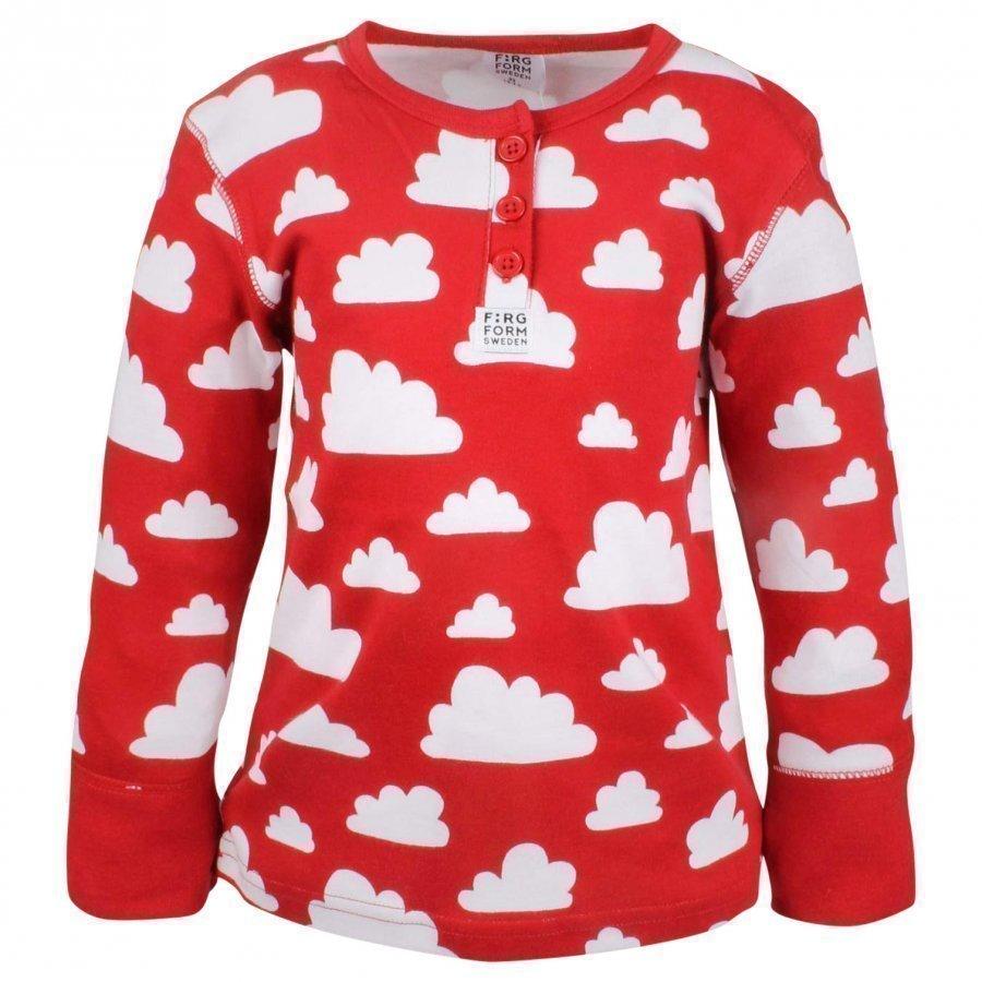 Färg & Form Moln Shirt Red Oloasun Paita