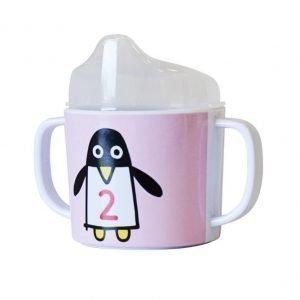 Färg & Form Penguin Pals Nokkamuki Vaaleanpunainen