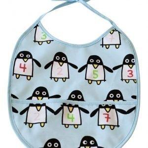 Färg & Form Ruokalappu Penguin Pals Vaaleansininen