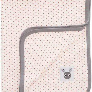 Färg & Form Skummis Puuvillahuopa Luonnonvalkoinen/harmaa
