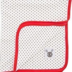 Färg & Form Skummis Puuvillahuopa Luonnonvalkoinen/punainen