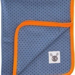 Färg & Form Skummis Puuvillahuopa Sininen/oranssi