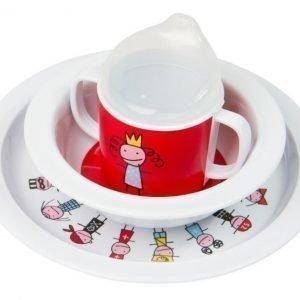 Färg & Form TINY Lasten astiasto Prinsessa