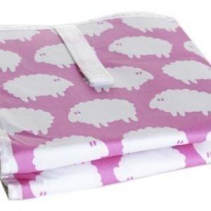 Färg & form Lamm Kokoontaitettava hoitoalusta Pinkki