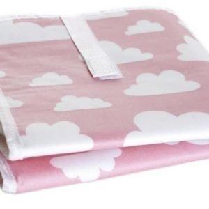 Färg & form Moln Kokoontaitettava hoitoalusta Pinkki