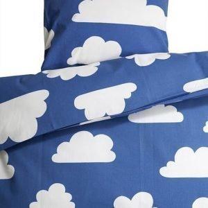 Färg & form Moln Liinavaatesetti lastensänkyyn Sininen