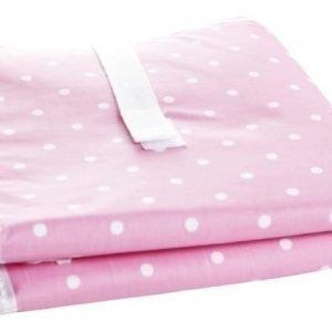 Färg & form Pilkullinen Kokoontaitettava hoitoalusta Pinkki