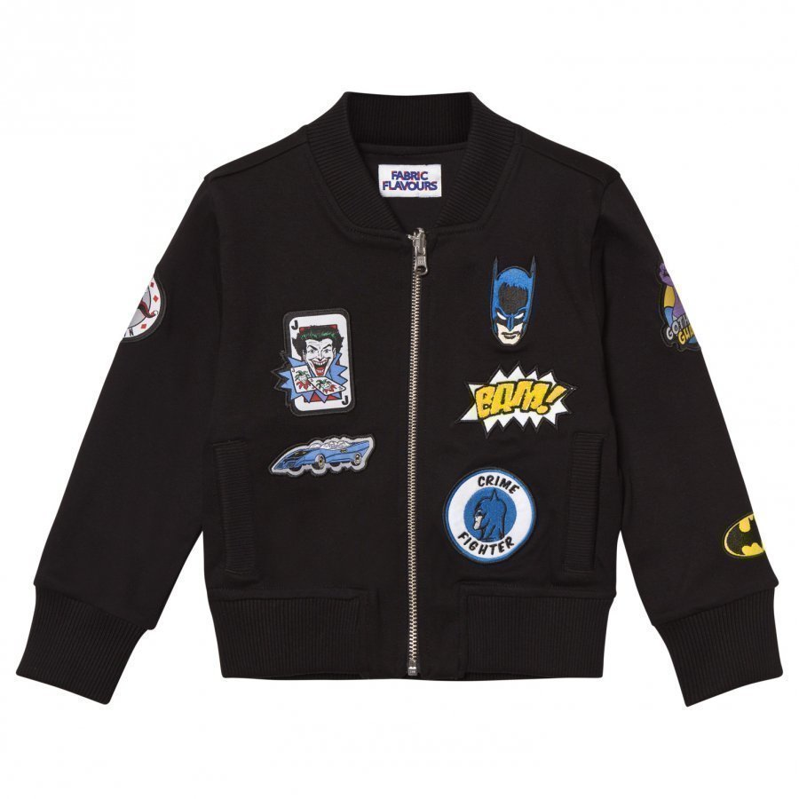 Fabric Flavours Batman Patch Bomber Jacket Bomber Takki