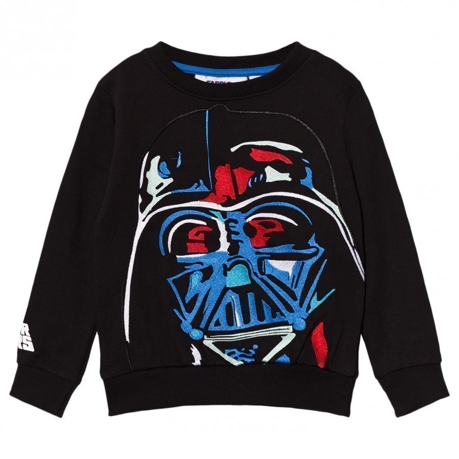 Fabric Flavours Black Darth Vader Applique Sweatshirt Oloasun Paita