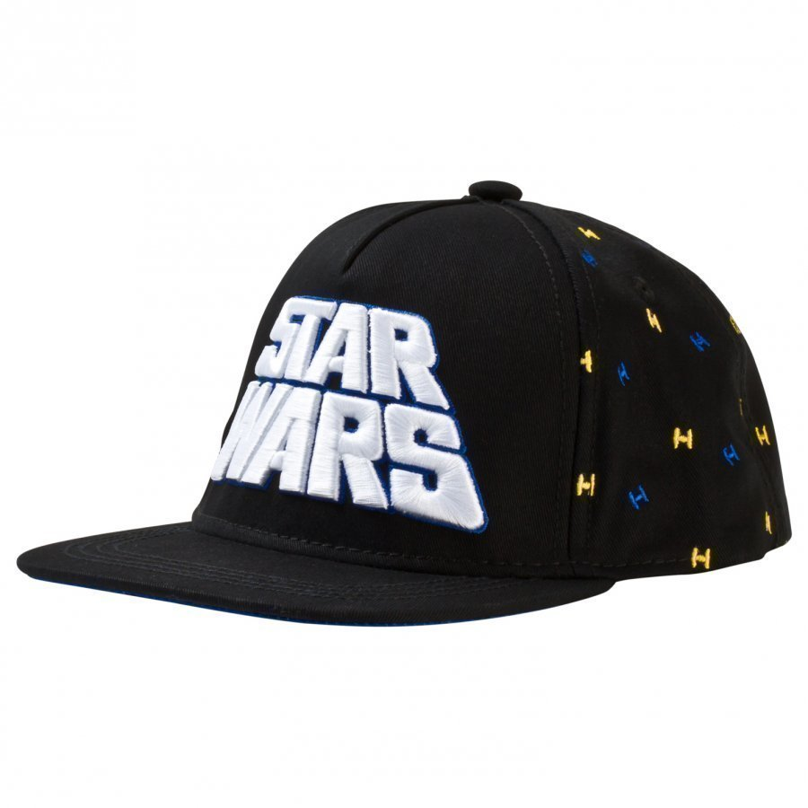 Fabric Flavours Black Star Wars Retro Logo Cap Lippis