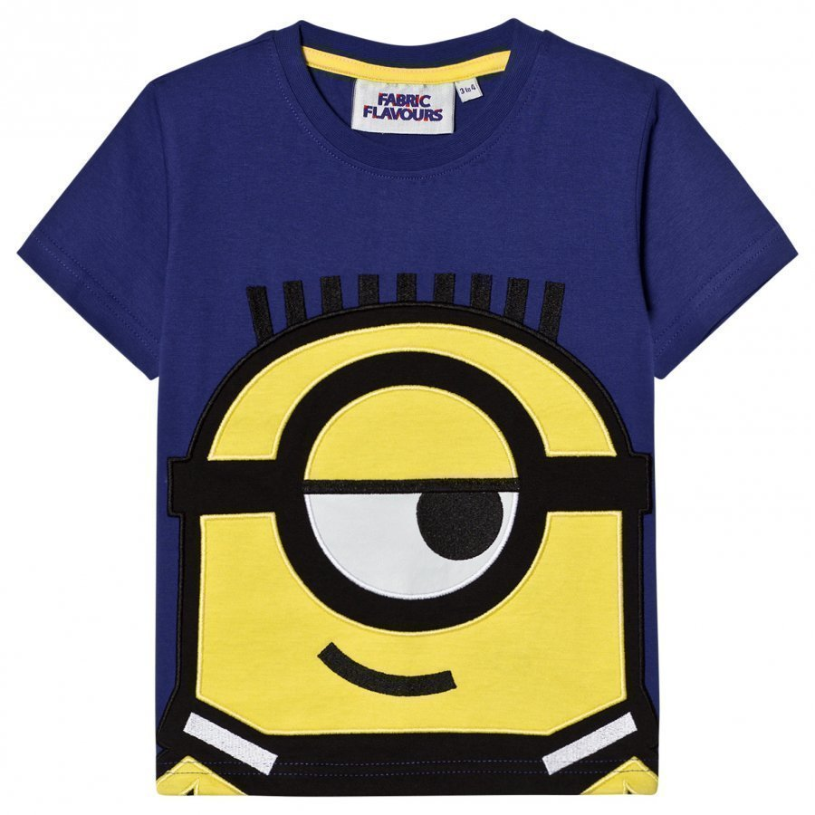 Fabric Flavours Blue Minions Applique T-Shirt T-Paita
