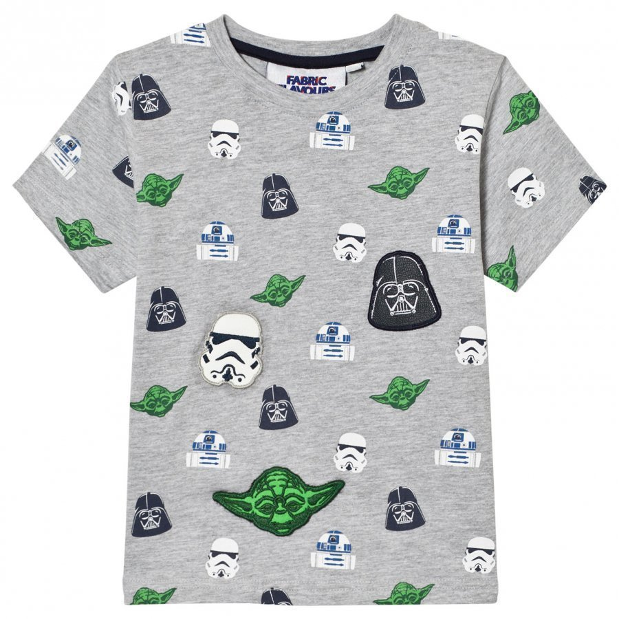 Fabric Flavours Grey Star Wars Multi Character Tee T-Paita