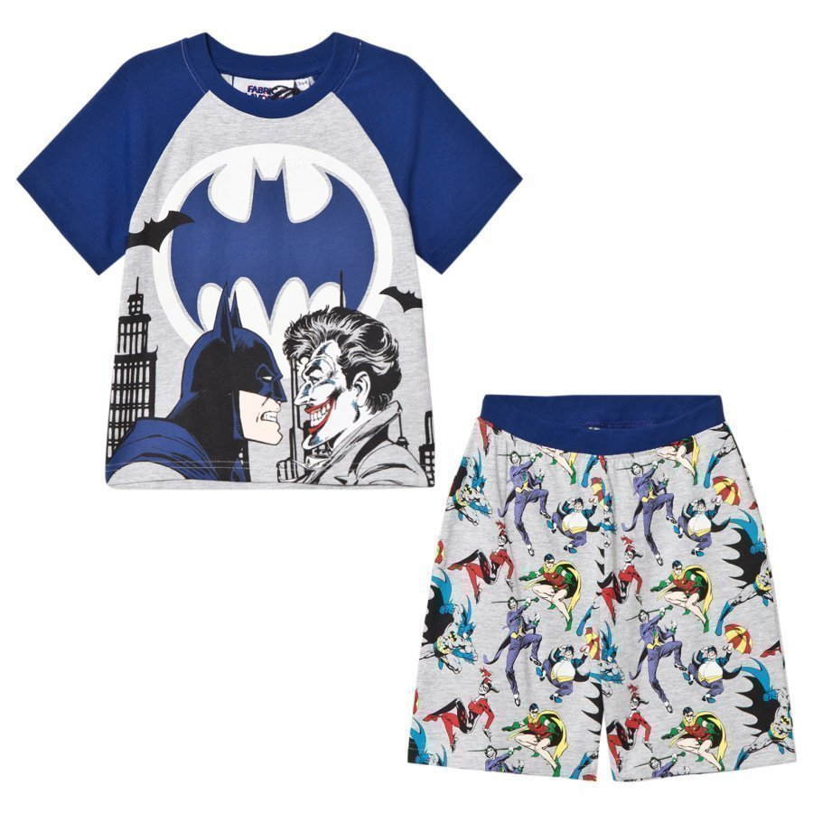 Fabric Flavours Grey/Blue Batman Joker Pyjamas Yöpuku