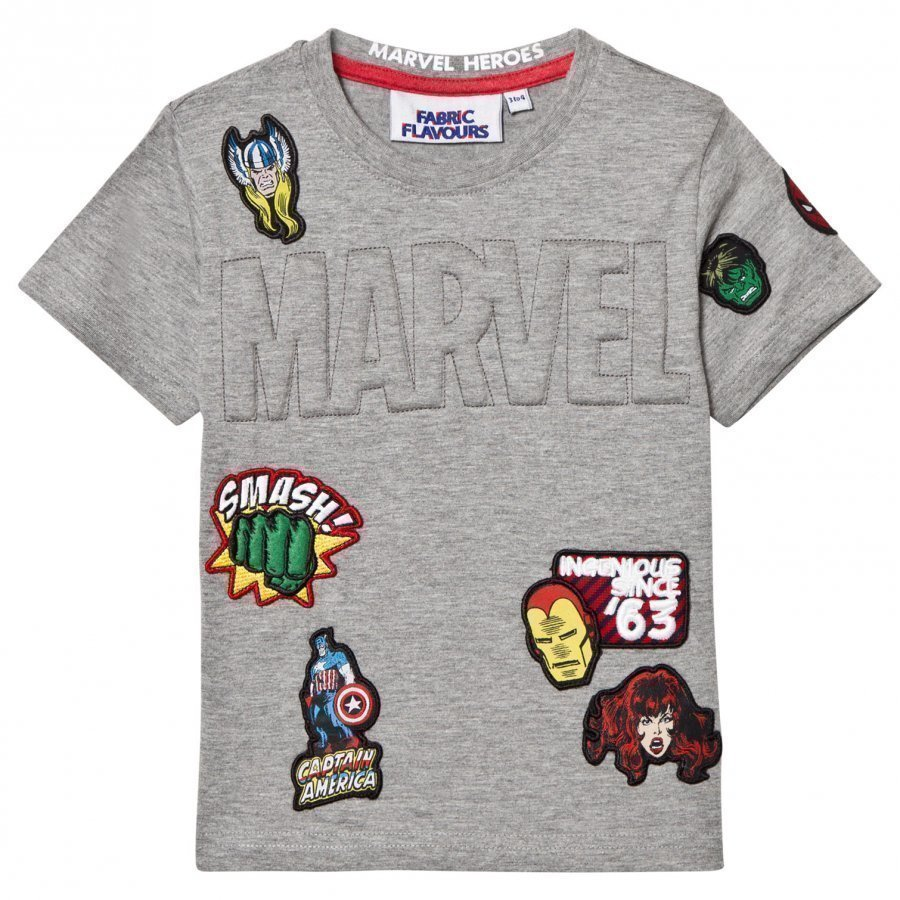 Fabric Flavours Marvel Embossed Patch Tee T-Paita