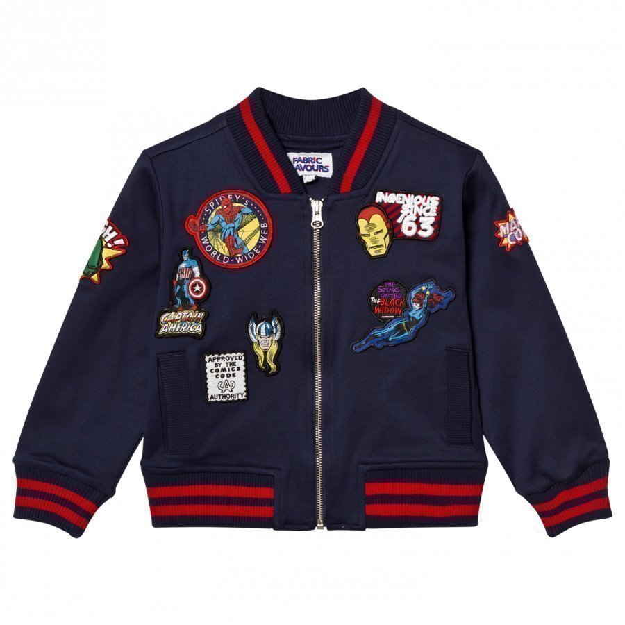 Fabric Flavours Marvel Patch Bomber Jacket Bomber Takki