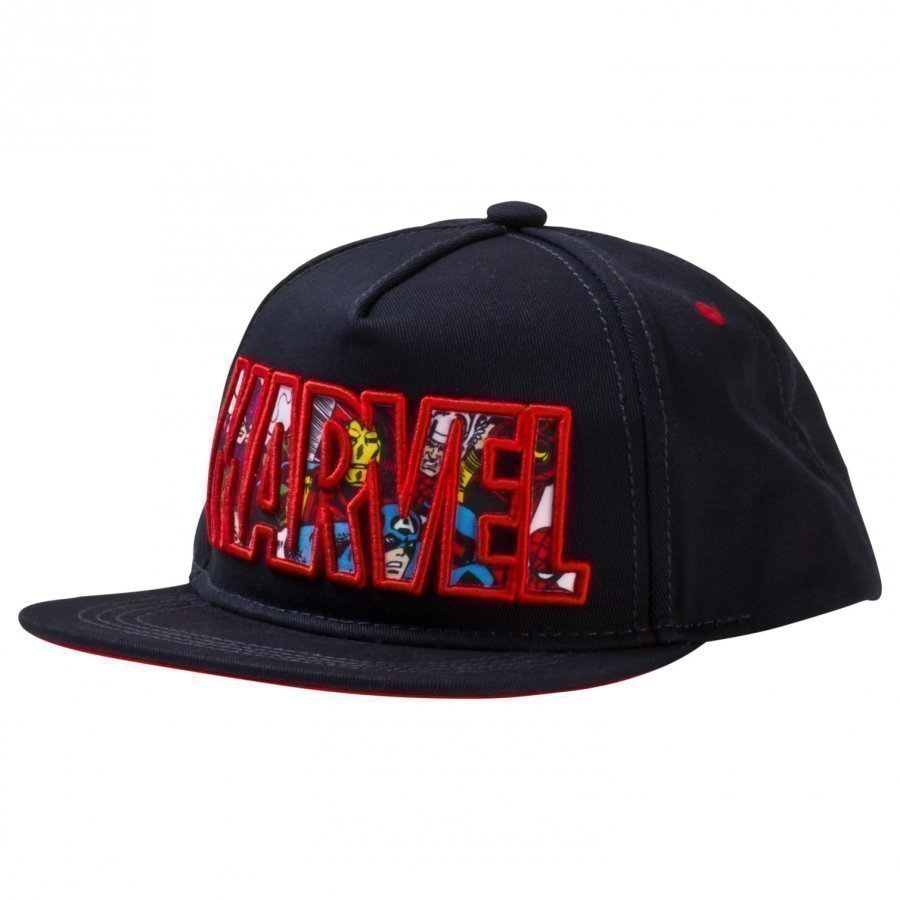 Fabric Flavours Navy Marvel Logo Character Cap Lippis