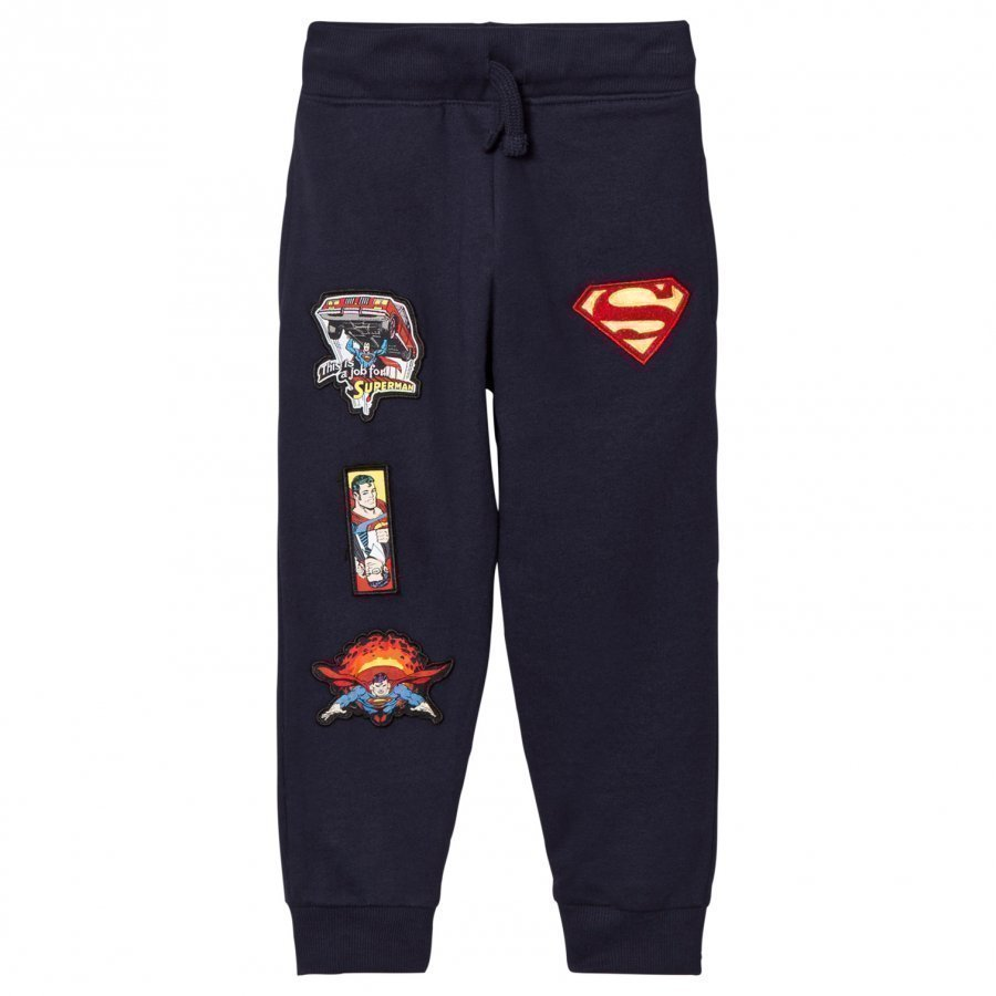 Fabric Flavours Navy Superman Interchangeable Badge Sweatpants Verryttelyhousut