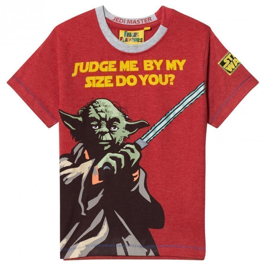Fabric Flavours Red T-Shirt Yoda T-Paita