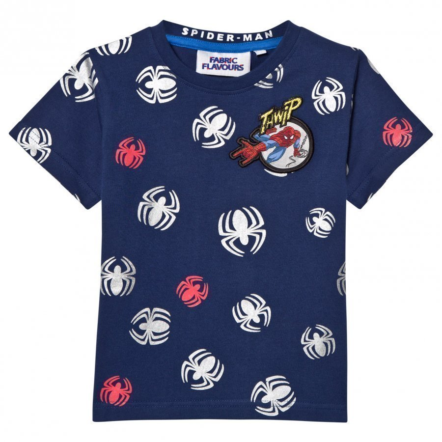 Fabric Flavours Spider-Man Repeat Print T-Shirt T-Paita