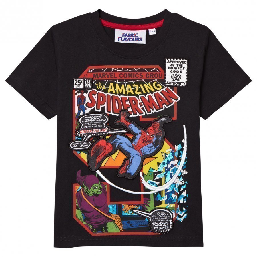 Fabric Flavours Spider-Man S Comic Graphic Tee T-Paita