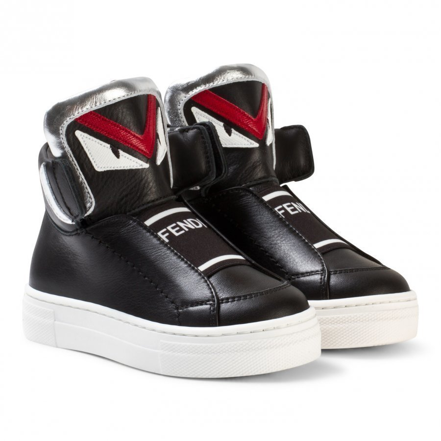 Fendi Black Monster High Top Sneakers Korkeavartiset Kengät