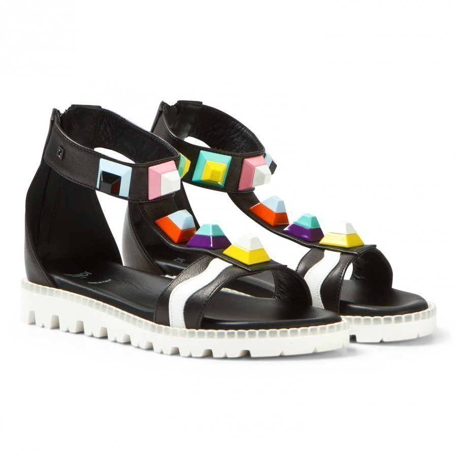 Fendi Black Multi Stud Ankle Strap Sandals Remmisandaalit