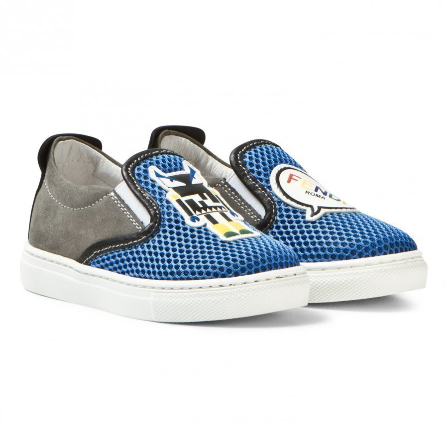 Fendi Blue Monster Mesh Slip Ons Lenkkarit