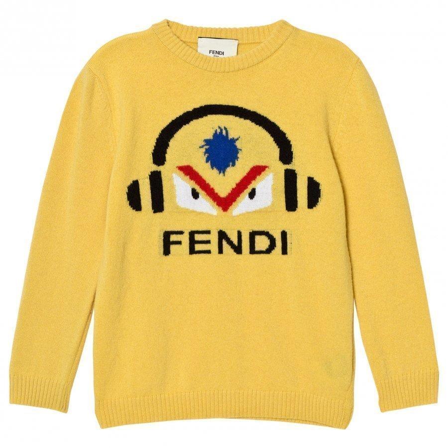 Fendi Mustard Monster Dj Wool Jumper Paita