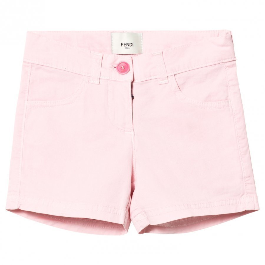 Fendi Pink Branded Badge Shorts Shortsit