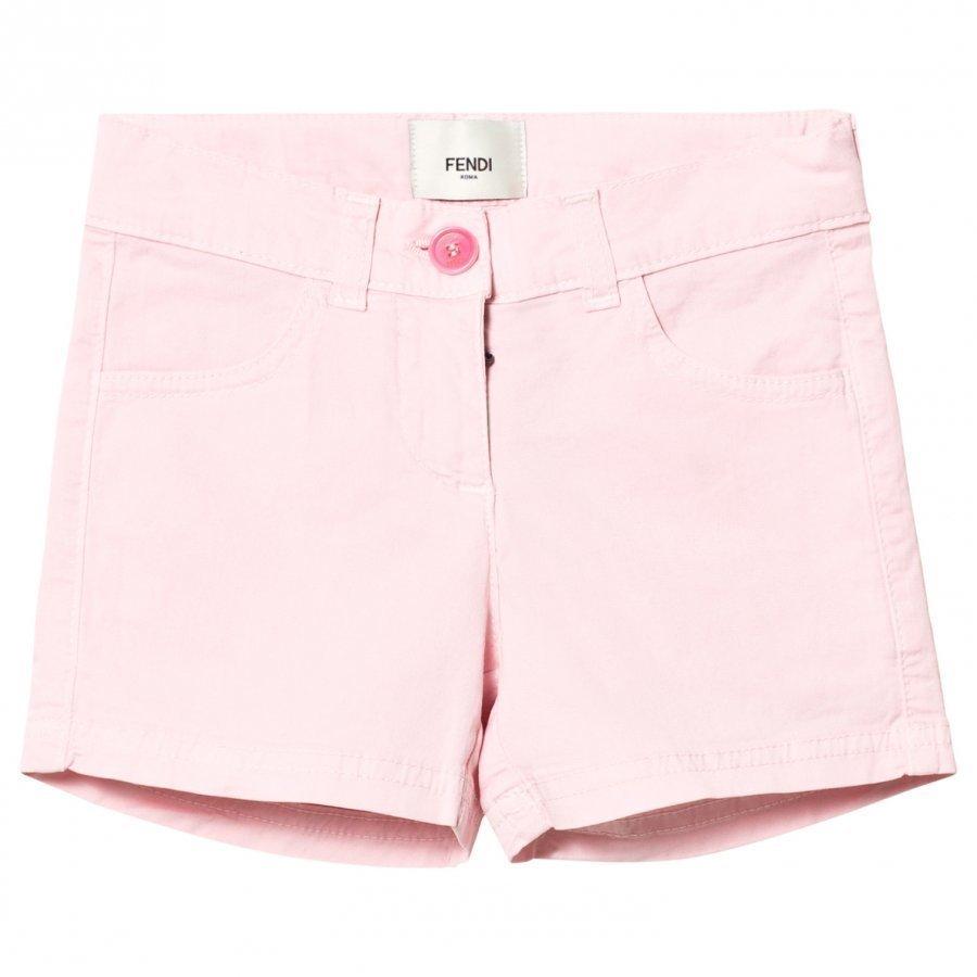 Fendi Pink Branded Badge Shorts Shortsit