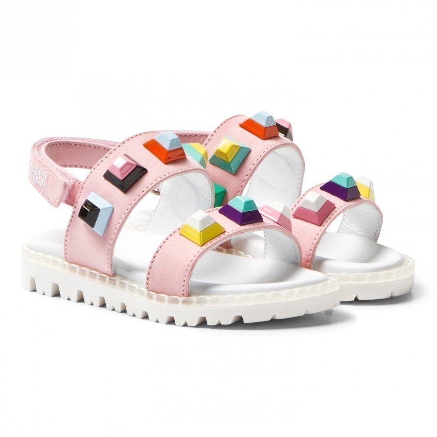 Fendi Pink Multi Stud Sandals Remmisandaalit
