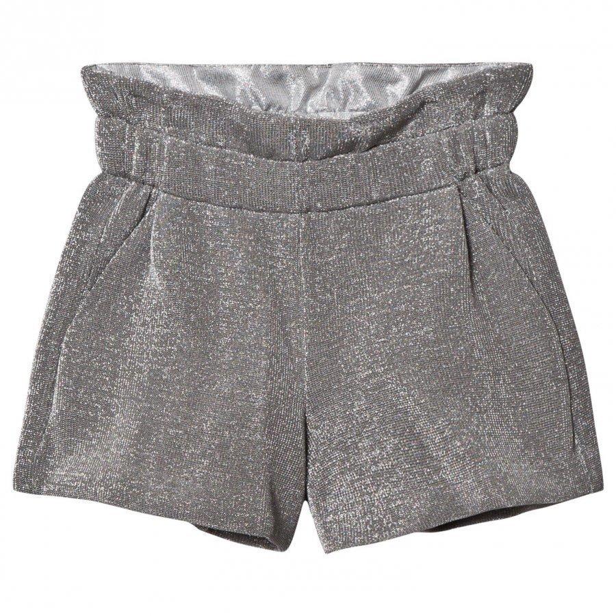 Fendi Silver Lurex Metallic Shorts Oloasun Shortsit