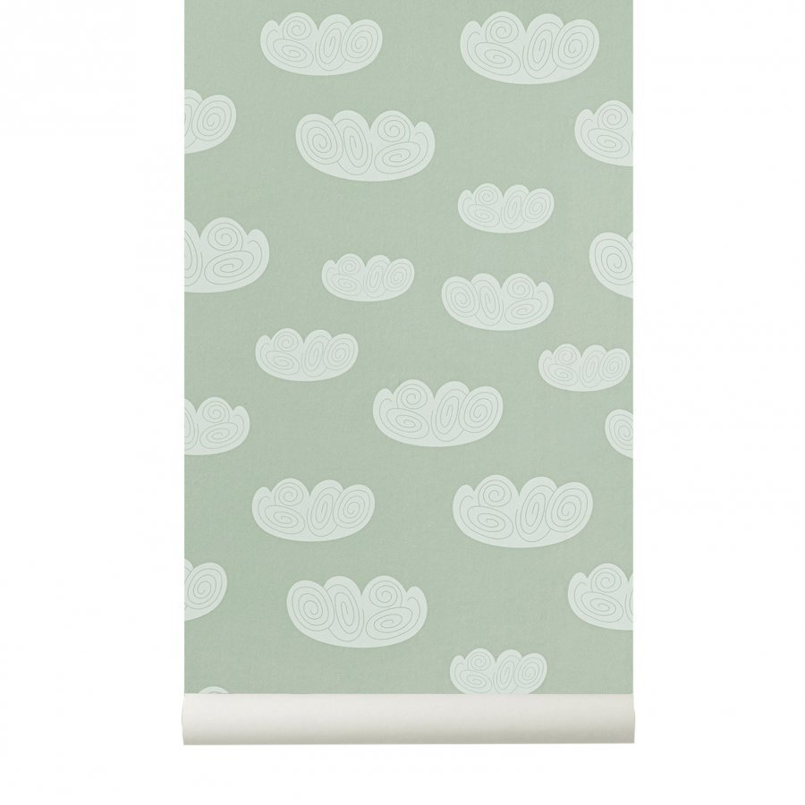 Ferm Living Cloud Wallpaper Mint Tapetti